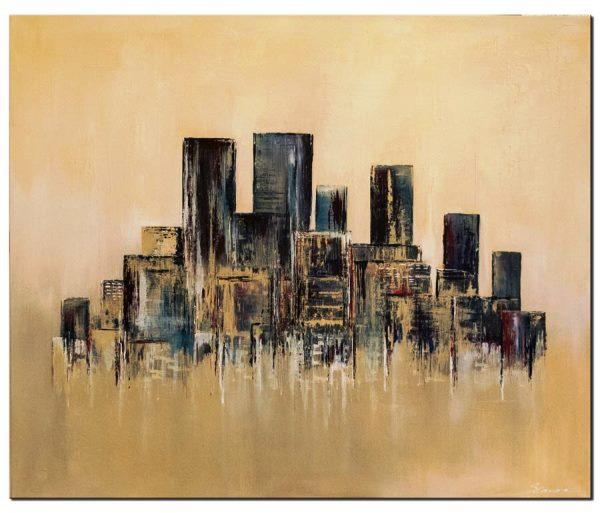 Das moderne Wandbild City Urban Stile ist ein handgemaltes Original