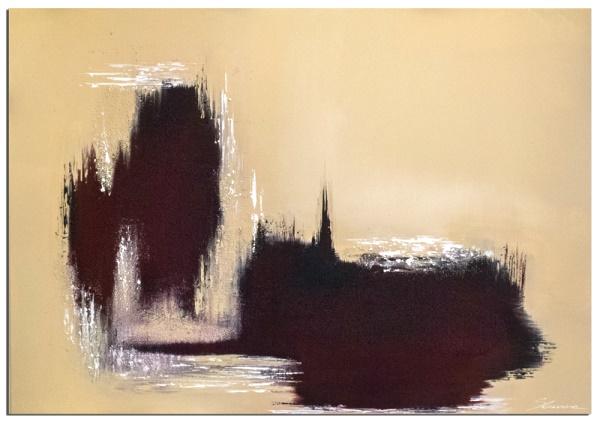 """Bei Wandbilder abstrakt """"Bleeding Earth Part II"""" handelt es sich um ein handgemaltes Original"""