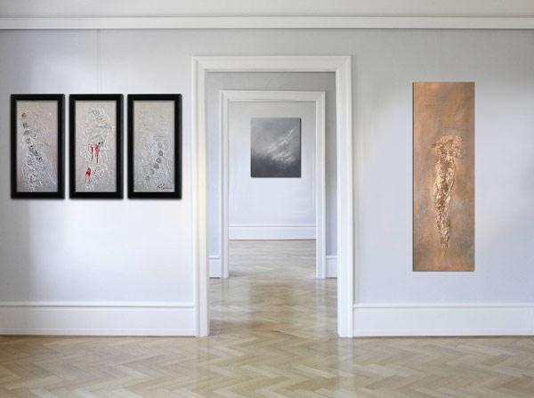 Abstrakte Acrylmalerei von Slavova Art. Moderne Kunst Bilder Wien
