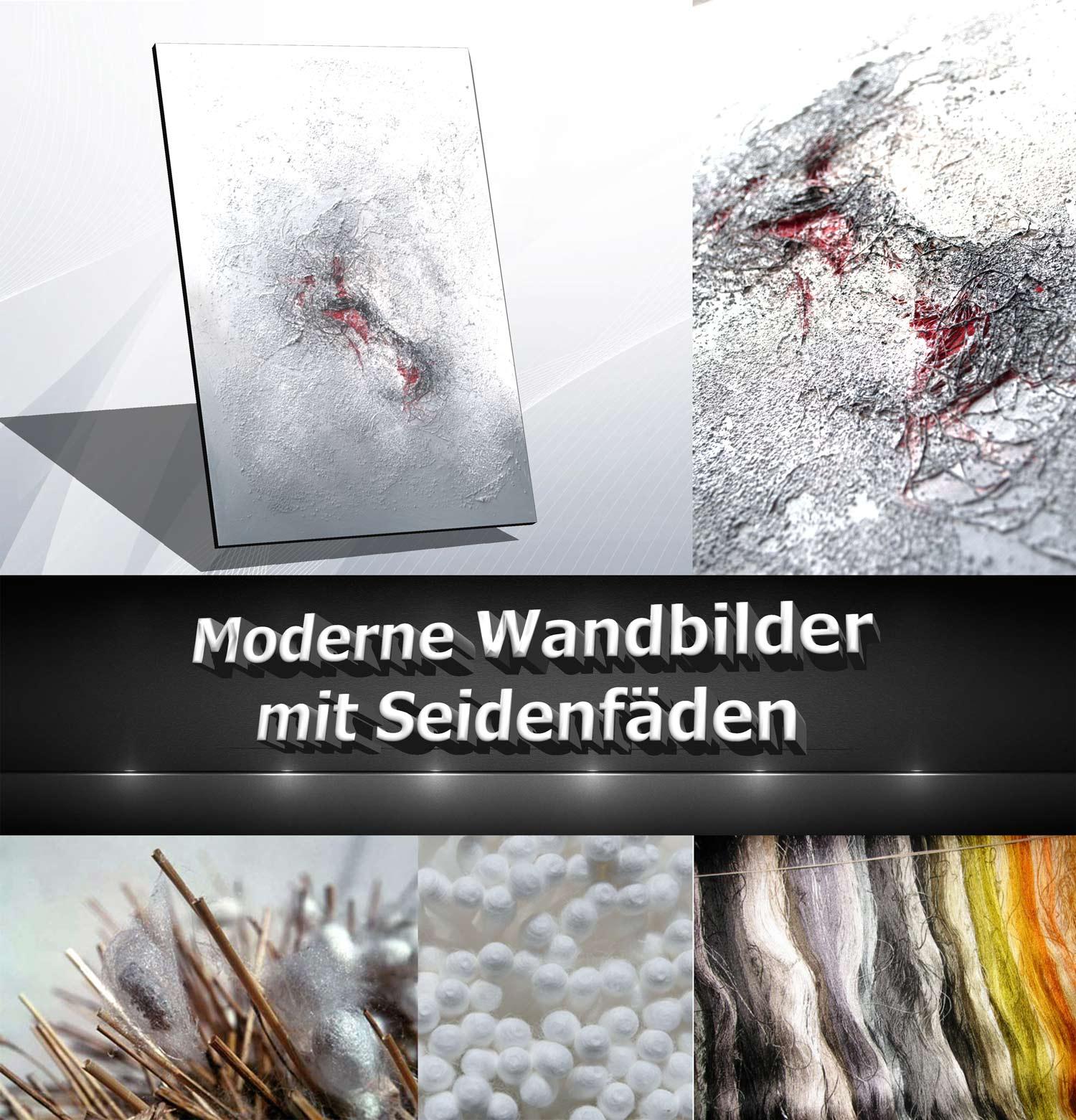 Moderne Wandbilder mit Seide