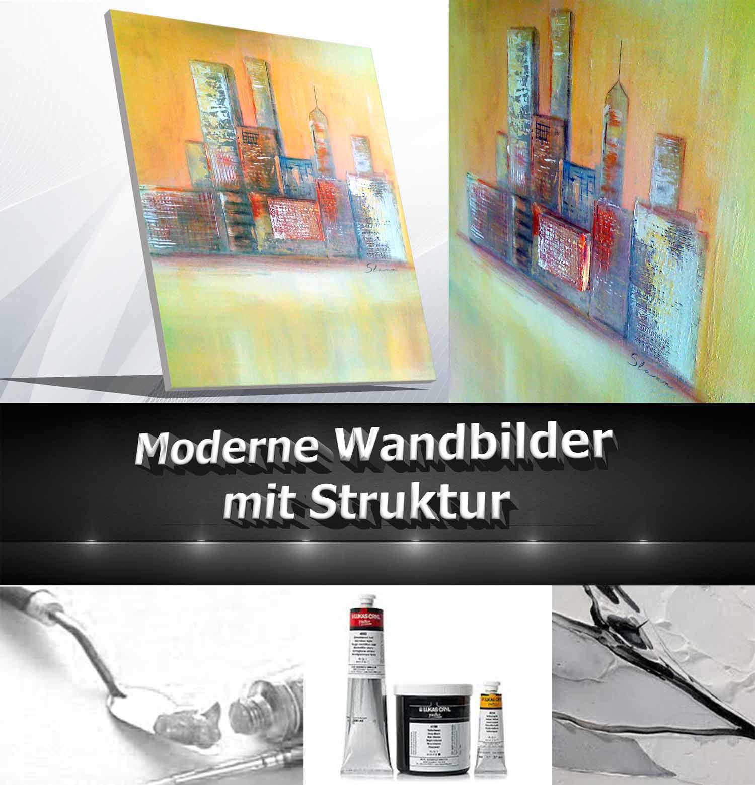 Wandbilder mit Struktur