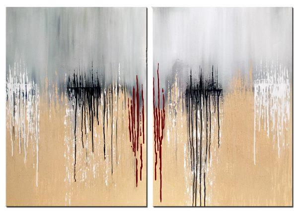 Bei Wandbild abstrakt Tears on Horizon handelt es sich um ein handgemaltes Original