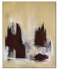 Handgemalte Bilder als abstraktes Wandbild