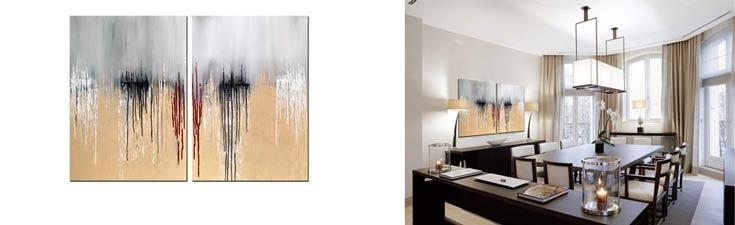 Wandbilder als handgemalte Bilder der modernen Kunst