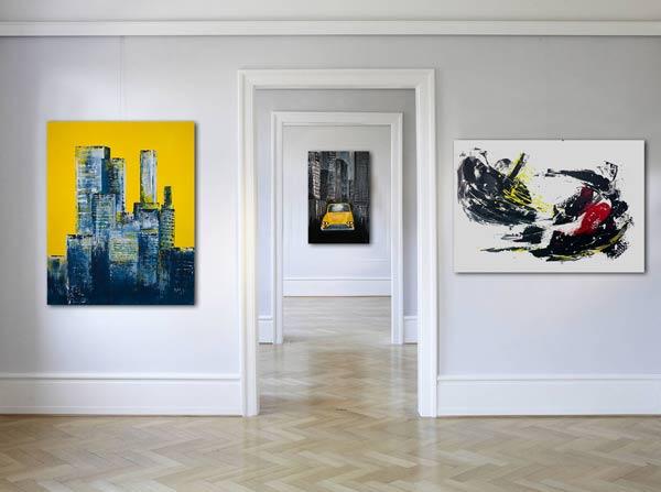 Mehrteilige Wandbilder handgemalt auf Slavova Art