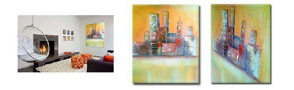 Collage wandbilder moderne kunst wandbilder slavova art - Moderne wandbilder auf leinwand ...