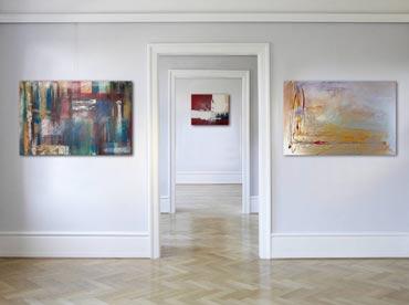 Moderne Wandbilder handgemalt abstrakte Acrylbilder