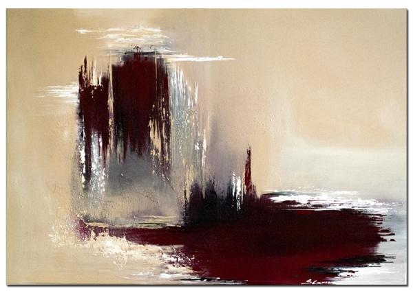 """Bei Wandbilder abstrakt """"Bleeding Earth"""" handelt es sich um ein handgemaltes Original"""
